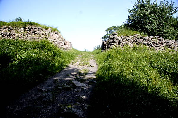 The Southwestern entrance into Gamleborg viking castle