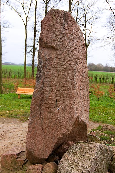 The North side of The Glavendrup Runic Stone
