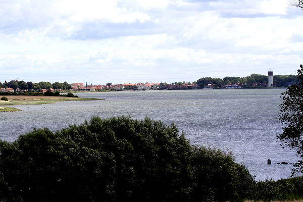 The view from the top of the mound towards the town of Kerteminde