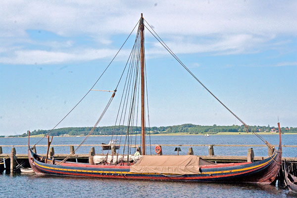 The Sea Stallion From Glendalough - the largest recreated viking ship at the viking ship shipyard in Roskilde, Denmark