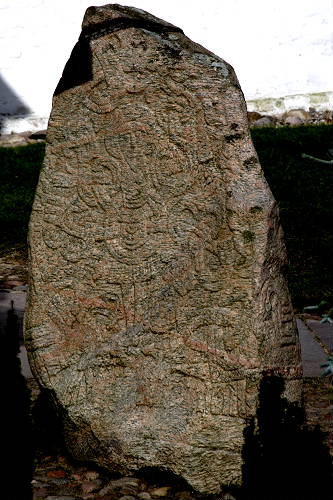 The South side of the bigger of the two inscribed stones