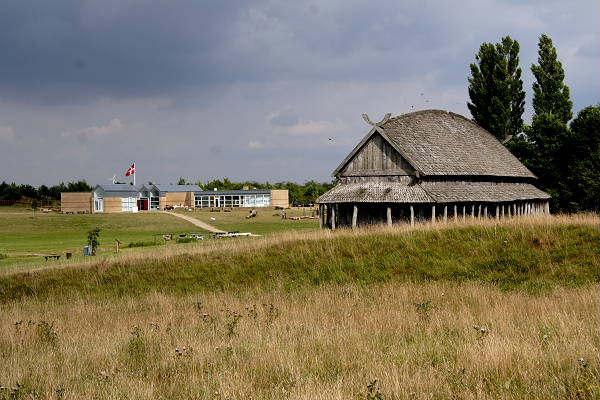 A reconstruction of a viking house and the Trelleborg Museum