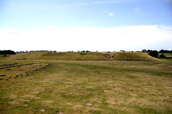 A full view of Trelleborg Viking Fortress from the East