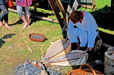 A viking blacksmith at work