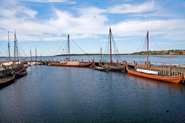 The viking ship harbour in Roskilde next to the Viking Ship Museum